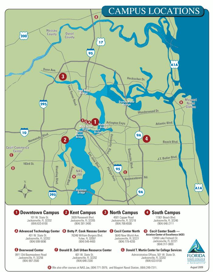 Florida State Campus Map.Florida Coast Career Tech Acalog Acms